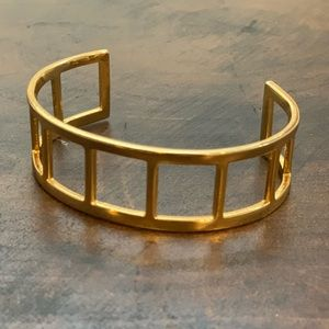BaubleBar Gold Ladder Cuff